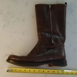 Hermes Shoes - HERMES Dlux Brown Leather Boots